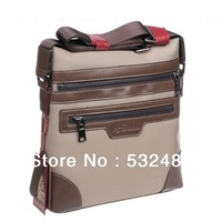 Promotion, British fashion style waterproof oxford & genuine leather men messenger bags Hot sale and free shipping bag for man