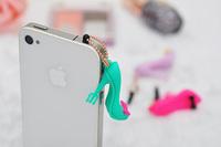 supernova sale High heels 3.5mm Mobile phones Earphone Headset Dust Plug Cap Prevent Cover cell phone accessories