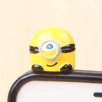 supernova sale 3D Cute Cartoon Despicable Me Minion 3.5mm Mobile phones Earphone Headset Dust Plug Cap Prevent Cover accessories