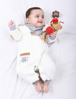 Supernova sale New for 2013 Autumn/Winter children's clothing  baby boys girls romper jumsuit for winter romper