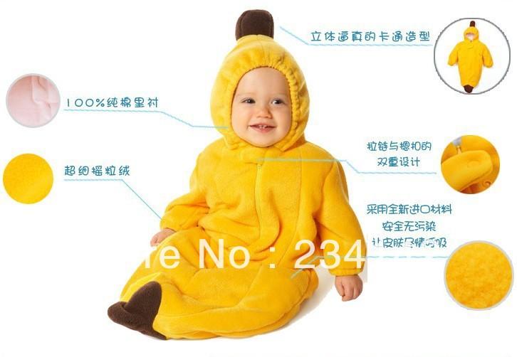 Baby banana costume pattern costume baby sleeping bag