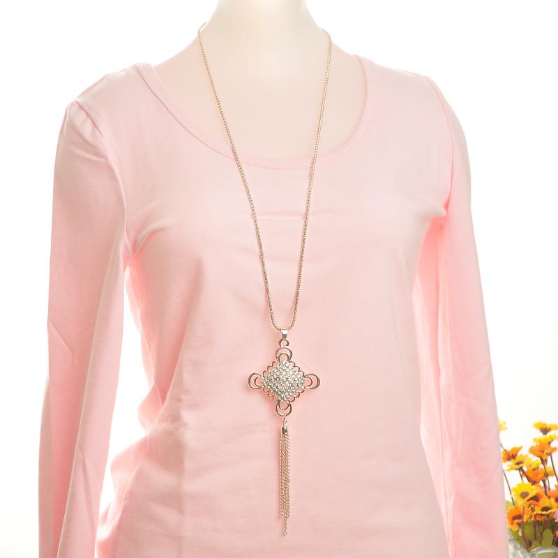 Колье-цепь The Latest Lady Fashion Necklace Represents Chinese Style Long Sweater Chain Pendant -LA003