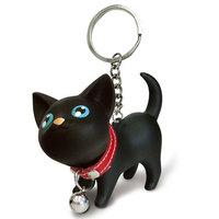 Novelty doll little cat key ring keychain couple key chain