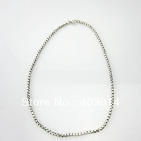 Free Shipping 100% 925 Sterlilng Silver Jewelry 3mm box chain 20 inches