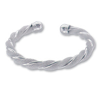 Lose Money Promotions! Wholesale 925 silver bangle bracelet, 925 silver fashion jewelry, Twisted Web Silvery Bangle B020