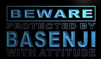 ADV PRO m485-b Beware Basenji Neon Light Sign