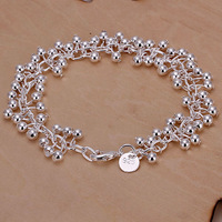 Wholesale! 925 silver bracelet 925 silver fashion jewelry charm bracelet Purple Bracelet H017 more wonderful in our store