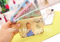 Retro Doll Kids Wallet Waterproof Grid Coin Purses Card Holders Cell Phone Pocket Handbags Storage Bag