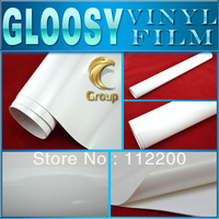 White Glossy Vinyl Car Wrap Sticker  High Quality For Car Decoration With Bubble Free Size: 1.52 m x 30 M Free Shipping