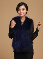 2013 Raccoon fur vest fox fur vest fashion vest women's fur vest