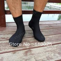 Men and women sports socks, their diving socks, short tube diving warm socks leg warmers Black  J-319