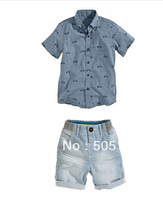 Boy casual denim suit piece fitted it k7440