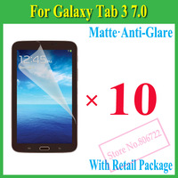 Matte Anti-Glare Anti Glare Screen Protector Protection Guard Film For Samsung Galaxy Tab3 Tab 3 7.0 T210 T211,With Package,10p