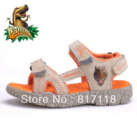 Free shipping,17-21.7cm,Dinosoles child sport shoes male child  breathable genuine leather sandals children sandals flasher