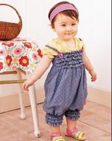 Summer Baby Romper,Siamese trousers.Denim harnesses,Girls baby dress,sample order