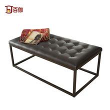 quadro fezes compartimento loja cem Bench Modern / Couro americanos / roupas sofá fezes / shop / metal(China (Mainland))