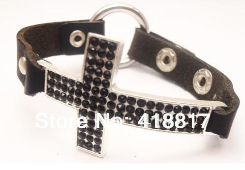 Sideways Cross Bracelet Leather Hottest Sideways Cross Leather