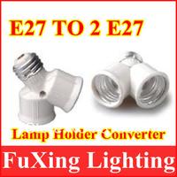 2013 innovative items Free shipping LED E27 TO 2E27 extend Base Light Bulb Lamp Adapter 50pcs/lot,E27 to 2E27 lamp socket