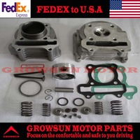 FedEx Free Shipping Scooter Parts GY6 80cc 47mm Cylinder Kit + Cylinder Head Comp for 139QMB Engine