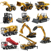 Huayi alloy engineering car toy excavator mining machine car model car