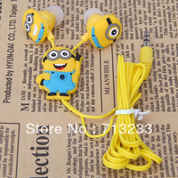 Brand New Despicable Me The Minion Pattern In-ear Plug Earphone for Various Cellphones