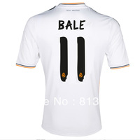 13-14 Thailand Quality soccer jerseys Real Madrid #11 Bale home white jersey 13/14 cheaper size S - XL