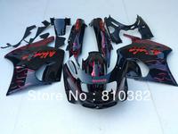 Red white flames Fairing kit for KAWASAKI Ninja ZZR1100 ZZR 1100 1993 2001 2003 ZX-11 ZZR1100D 93 94 01 02 03 Fairings bodywork