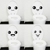 Wholesale 4 pc Creative Smile Toilet Stick Paste DIY Furniture Decorative Wall Sticker