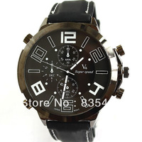 Men sport Black plate Quartz Watches Glasses Face back steel large digital watches japanese movement business men watch