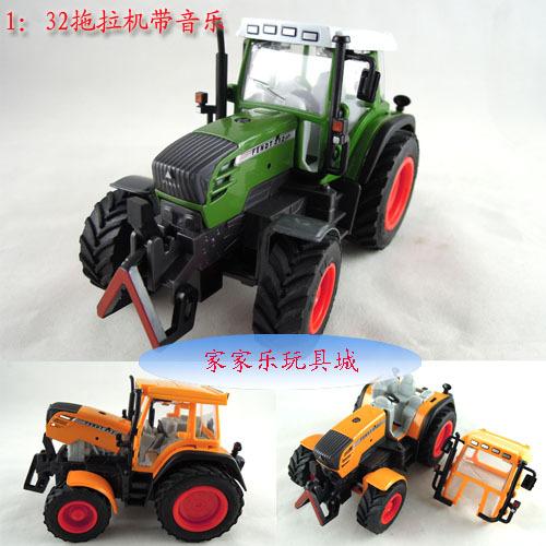 Box alloy big machine head car model toys agricultural vehicles model(China (Mainland))