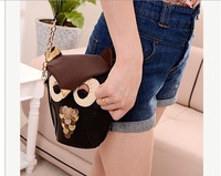 2013 High Quality owl design good quality PU women Faux Leather shoulder bags