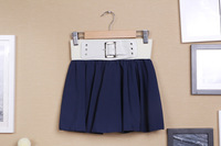 2013 New Fashion Women Spring and Summer Solid Candy Chiffon Short Skirt Liadies Short Dress Free Shipping ZX0353
