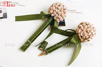 FREE SHIPPING-Big Registration flower ball pen - champagne | Registration pen | wedding anniversaries fashion goods