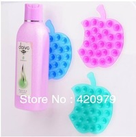 Free Shipping Cute Apple Double Side sucker,save space pvc suction cup,anti slip two-sided sucker holder as bathroom product.