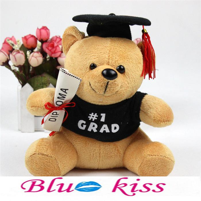 R17Min.Order $8 (Mix Order)Free Shipping Wholesale 100% Plush Hot Graduation Gifts Dr. Bear Plush Dolls(China (Mainland))