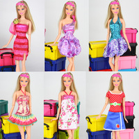 16 piece / lot 2013 new arrival fashion  leisure  Skirt dress for barbie doll free shipping