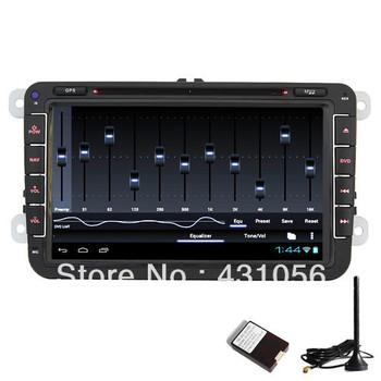 2 Din Android Car Stereo DVD Player GPS Ipod DVBT TV VW Golf 5 6 Passat Tiguan+free shipping+Fedex IE