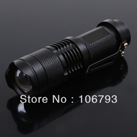 5X 7W 450LM CREE Q5 LED Flashlight Adjustable Focus Zoom flash Light Lamp for camp free shipping