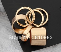 New Arrival Hot Sale Gold Circle RIngs Set Wholesale Jewelry