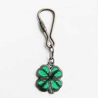 Plant keychain - series four leaf clover lucky grass