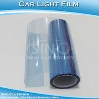 "SINO CAR STICKER 0.3x10M 12""x394"" Free Shipping Light Blue Car Headlight  Wrap Vinyl Film/Car Light Sticker"