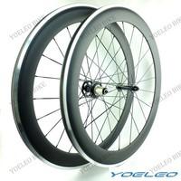 60mm Carbon Wheels Clincher 700C Road Bike Wheels With Alloy Braking Surface Powerway Hubs R10 CN Aero Spokes