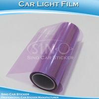 "SINO CAR STICKER 0.3x10M 12""x394"" Free Shipping Purple Car Headlight Film /Car Light Protective Film"
