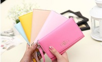 Free shipping 2013 new  Korean cute mobile phone packages fashion women's purse five color wallet  girls card holder handbag