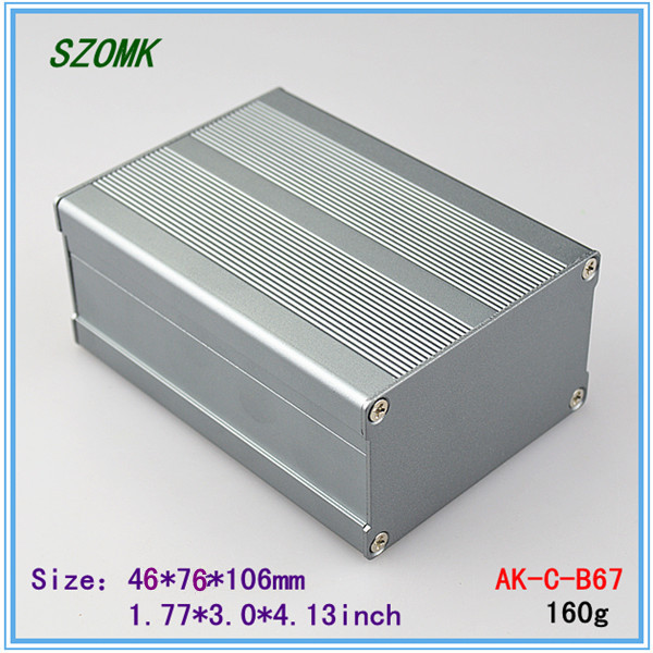 2014 Sale Direct Selling Distribution Box Ip54 1 Piece 46*76*106 Mm Extruded Aluminum Enclosure 1.77*3*4.13 Inch Diy Box Project(China (Mainland))