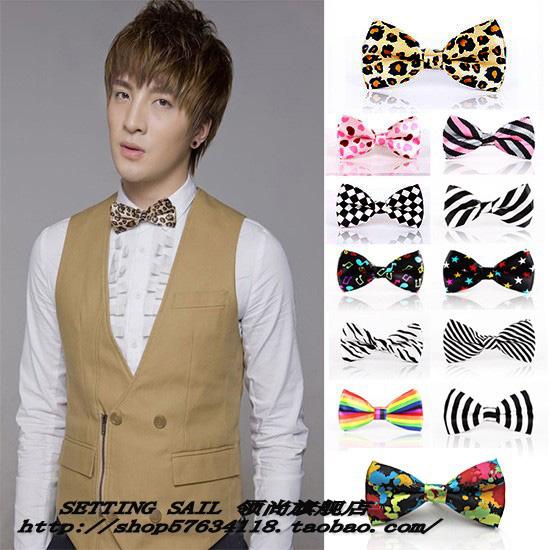 Fashion fancy women's bow tie male women's plaid polka dot stripe bow banquet(China (Mainland))