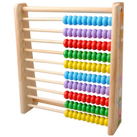 Child abacus wooden frame calculation infant mathematics teaching aids educational toys 3 - 7