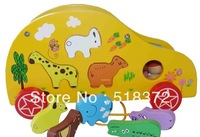Multi-functional animal wooden educational toys ,animal blocks toys,cartoon wooden toy