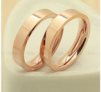 Free shipping Smooth letter plating 18k rose gold LOVE series lovers ring  not allergic