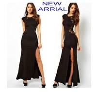 Cheap!! Plus Size Free Shipping Sexy Lace Hollow Women Dress,Ladie 'Dress size S,M,L,XL,XXL